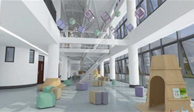 What should be paid attention to in the design of indoor playground in kindergarten?