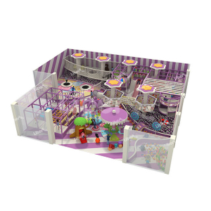 A Dreamy Purple Indoor Comprehensive Large Children's Soft Play Customization