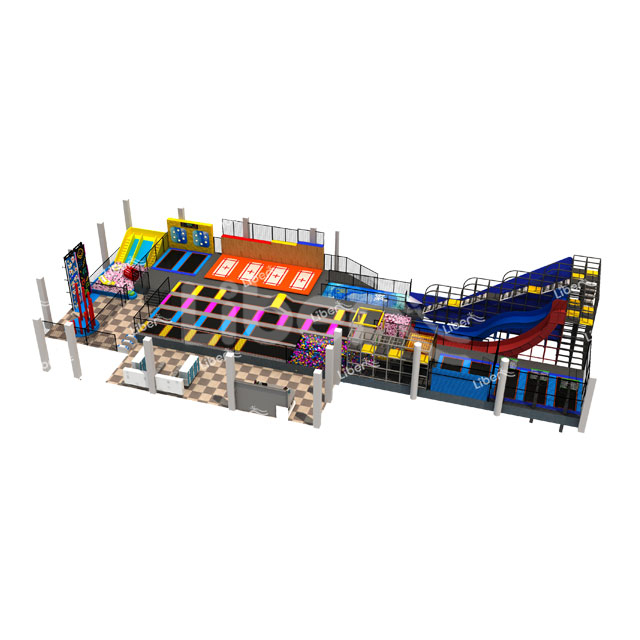 Liben Professional Trampoline with Dodge Ball And Foam Pit Indoor Tram
