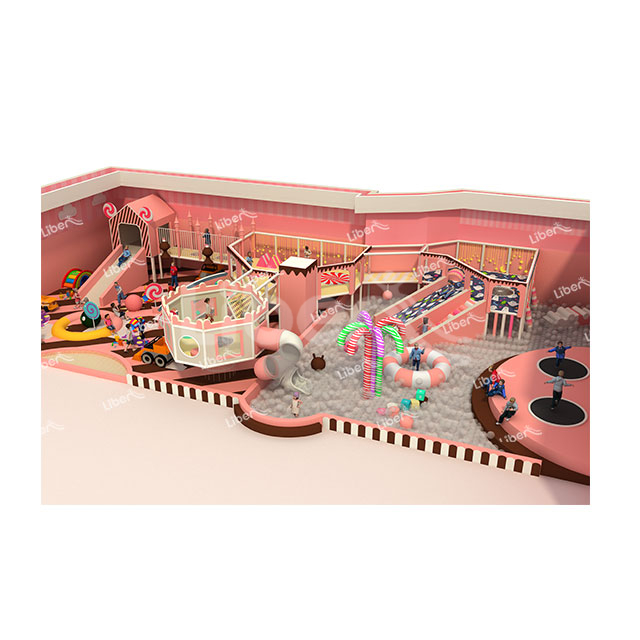 The Theme Playground of Indoor Colorful Candy House